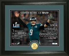 "Nick Foles Super Bowl 52 Champion ""Quote"" Bronze Coin Photo Mint"
