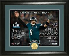 "Nick Foles Super Bowl 52 Champion ""Quote"" Bronze Coin Photo Mint"