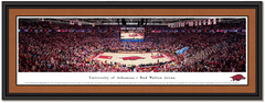 ARKANSAS RAZORBACKS Basketball BUD WALTON ARENA Framed Print