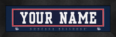 Gonzaga Bulldogs Personalized Jersey Nameplate