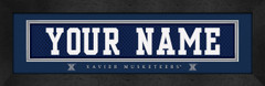 Xavier Musketeers Personalized Jersey Nameplate