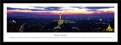 Paris Skyline Twilight Framed Picture