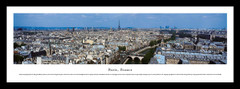 Paris Skyline Daytime Framed Picture