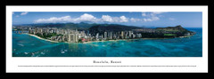 Honolulu Skyline Framed Picture