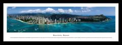 Honolulu Skyline Framed Picture
