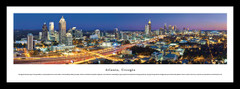 Atlanta Skyline Twilight Framed Picture