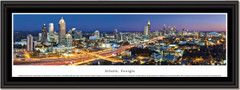 Atlanta Skyline Twilight Framed Picture
