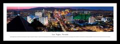 Las Vegas Skyline at Twilight Aerial Framed Picture