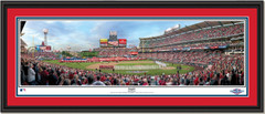 Los Angeles Angels Opening Day Framed Panoramic Picture Double Matting and Black Frame