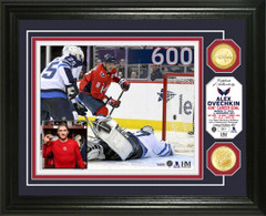 Alex Ovechkin 600th Career Goal Bronze Coin Photo Mint