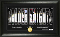 "Vegas Golden Knights ""Silhouette"" Bronze Coin Photo Mint"