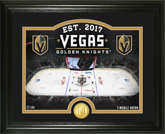 "Vegas Golden Knights ""Rink"" Bronze Coin Photo Mint"