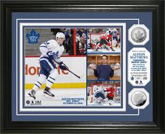 "Auston Matthews ""NHL Debut Scoring Record"" Silver Coin Photo Mint"