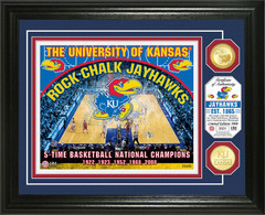 University of Kansas Basketball Bronze Coin Photo Mint