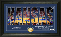 "University of Kansas Basketball ""Silhouette"" Bronze Coin Photo Mint"