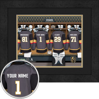 Vegas Golden Knights Personalized Locker Room Print