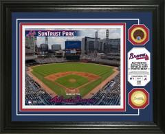 Atlanta Braves Dirt Coin Photo Mint
