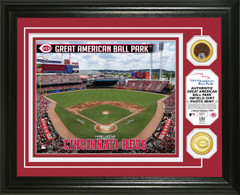 Cincinnati Reds Dirt Coin Photo Mint