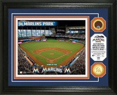 Miami Marlins Dirt Coin Photo Mint