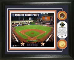 Houston Astros Dirt Coin Photo Mint