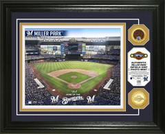 Milwaukee Brewers Dirt Coin Photo Mint