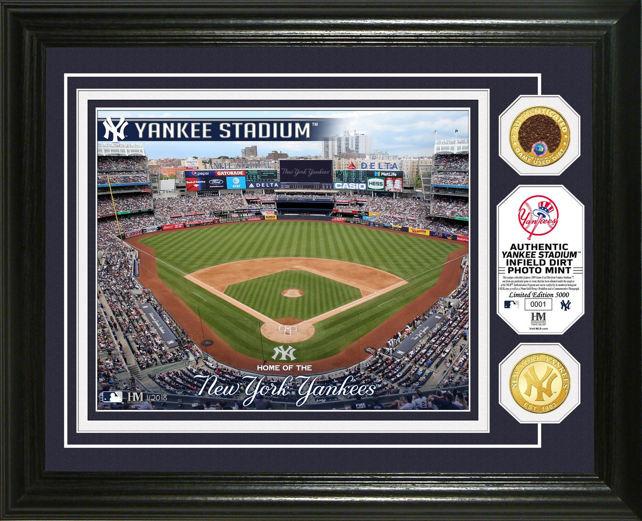 New York Yankees Dirt Coin Photo Mint