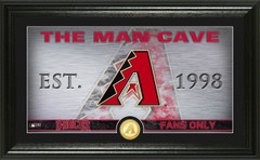 Arizona Diamondbacks Man Cave Panoramic Bronze Coin Photo Mint