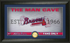 Atlanta Braves Man Cave Panoramic Bronze Coin Photo Mint