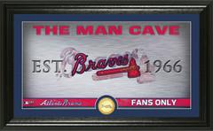 Atlanta Braves Man Cave Panoramic Bronze Coin Photo Mint