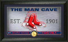 Boston Red Sox Man Cave Panoramic Bronze Coin Photo Mint