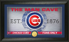 Chicago Cubs  Man Cave Panoramic Bronze Coin Photo Mint