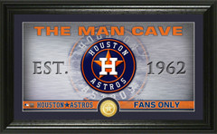 Houston Astros Man Cave Panoramic Bronze Coin Photo Mint