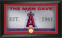 Los Angeles Angels Man Cave Panoramic Bronze Coin Photo Mint