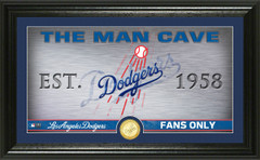 Los Angeles Dodgers Man Cave Panoramic Bronze Coin Photo Mint