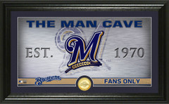 Milwaukee Brewers Man Cave Panoramic Bronze Coin Photo Mint
