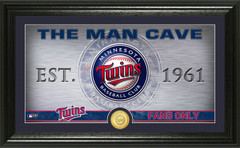 Minnesota Twins Man Cave Panoramic Bronze Coin Photo Mint