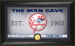 New York Yankees Man Cave Panoramic Bronze Coin Photo Mint