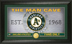 Oakland A's Man Cave Panoramic Bronze Coin Photo Mint