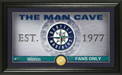 Seattle Mariners Man Cave Panoramic Bronze Coin Photo Mint