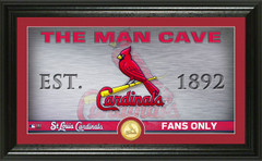 St. Louis Cardinals Man Cave Panoramic Bronze Coin Photo Mint
