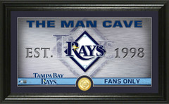 Tampa Bay Rays Man Cave Panoramic Bronze Coin Photo Mint