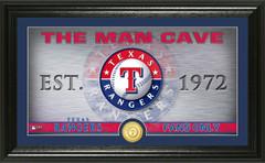 Texas Rangers Man Cave Panoramic Bronze Coin Photo Mint