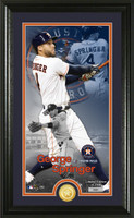George Springer Supreme Bronze Coin Photo Mint