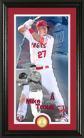 Mike Trout Supreme Bronze Coin Photo Mint