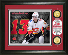 Johnny Gaudreau Bronze Coin Photo Mint