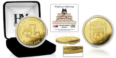 Loyola University Ramblers Gold Mint Coin