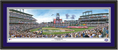 Colorado Rockies Opening Day Coors Field Framed Picture Double Mat Black Frame