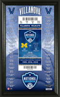 Villanova University 2018 NCAA Men's Basketball National Champions Commemorative Ticket Pano