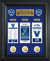 Villanova University 2018 NCAA Men's Basketball National Champions Deluxe Gold Coin & Commemorative Ticket Collection