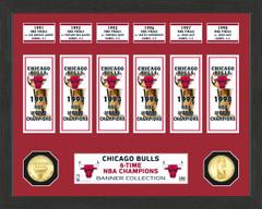 "Chicago Bulls ""Banner"" Bronze Coin Photo Mint"